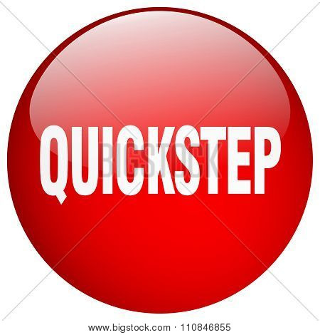 Quickstep Red Round Gel Isolated Push Button