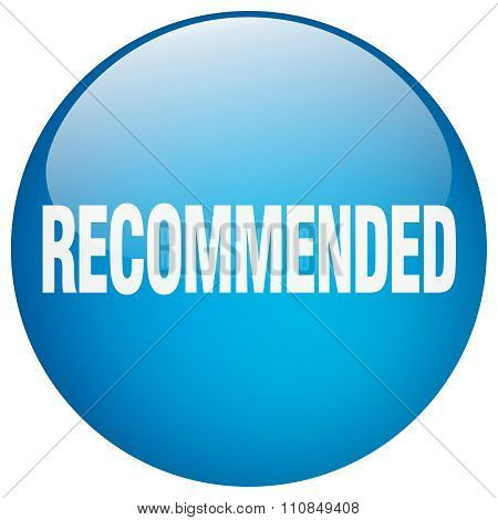 Recommended Blue Round Gel Isolated Push Button