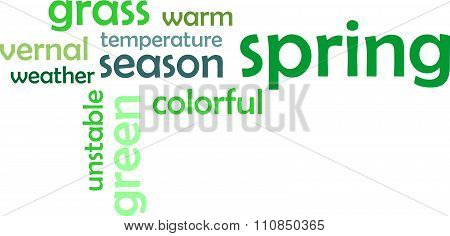 Word Cloud - Spring