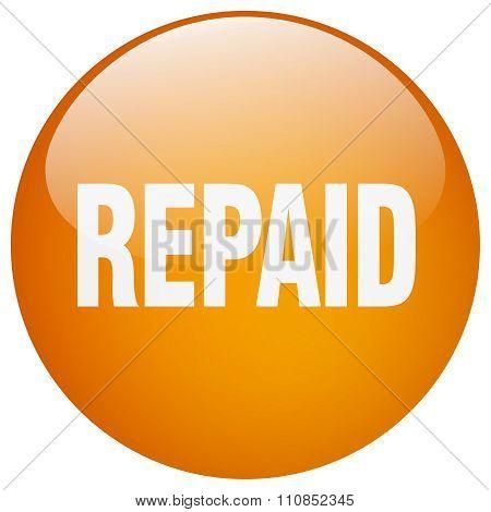 Repaid Orange Round Gel Isolated Push Button
