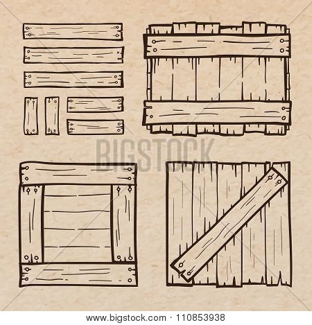 Wooden Box Doodles