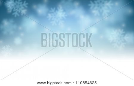 Winter luminous card with snowflakes. Vector illustration.