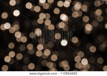True Bokeh Glowing Lights Background