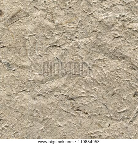 Handmade old wrinkled beige rice paper texture.