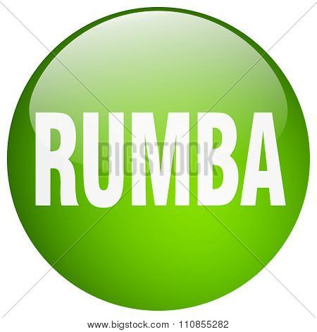 Rumba Green Round Gel Isolated Push Button
