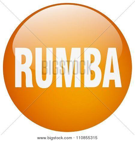 Rumba Orange Round Gel Isolated Push Button
