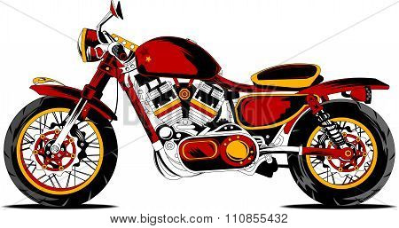 Retro Redmotorcycle