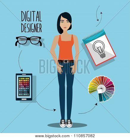 Creative ideas graphic designer