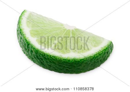 Lime Wheel Halved Isolated
