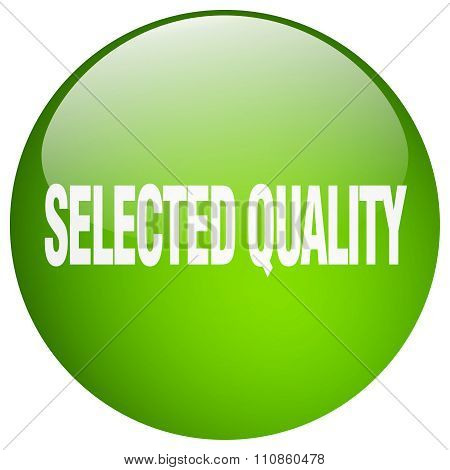 Selected Quality Green Round Gel Isolated Push Button