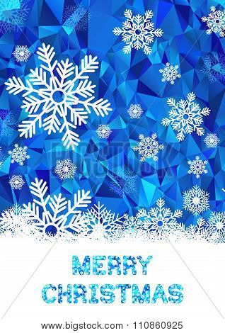 Cristmas greeting card vector template
