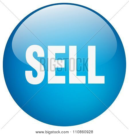 Sell Blue Round Gel Isolated Push Button