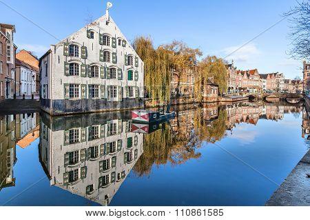 Buildings On Riverside In Lier