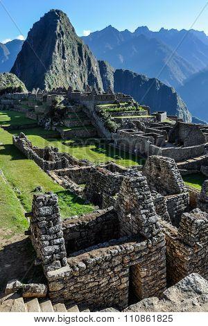 The Ruins Of Machu Picchu, The Sacred City Of Incas, Peru