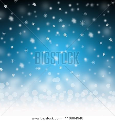 Snowflakes Background  For You Design