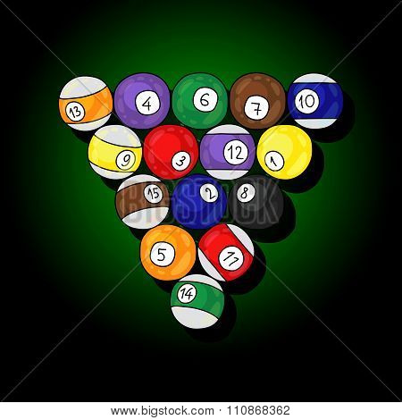 Billiards. Balls. Vector illustration