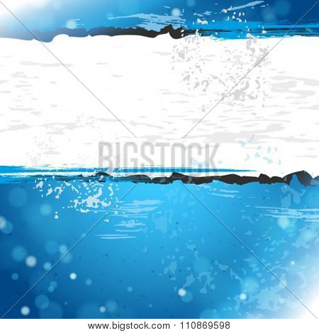 Dirty grunge blue background with white space for text