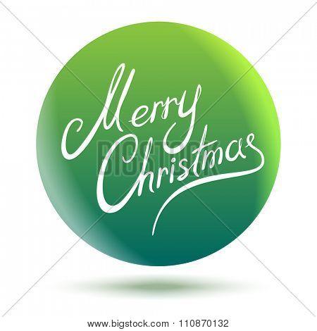 Abstract Merry Christmas Circle Green Sign