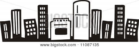 Big city urban cooking kitchen appliances