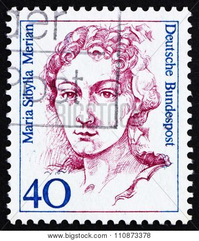 Postage Stamp Germany 1988 Maria Sibyilla Merian, Naturalist, Painter