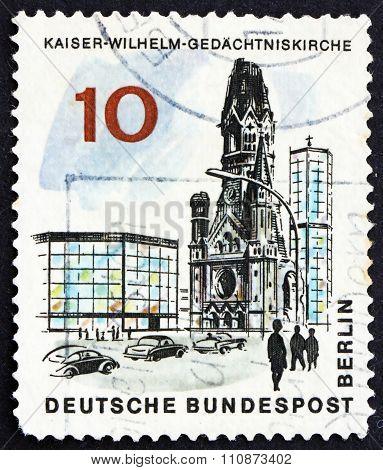 Postage Stamp Germany 1965 Kaiser Wilhelm Memorial Church, Berli