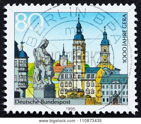 Postage Stamp Germany 1973 Province Of Gera