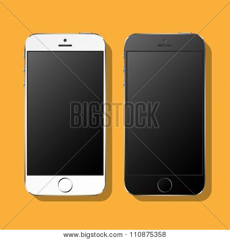 White and black phones