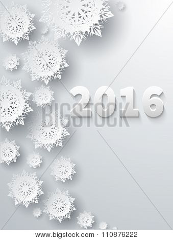 Snowflakes Background 2016