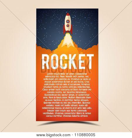 Rocket launch icon. Vector illustration eps 10