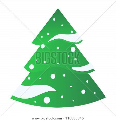 Christmas tree flat icons set
