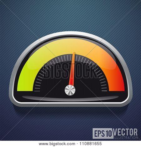 Speedometer realistic icon. Vector illustration. speed