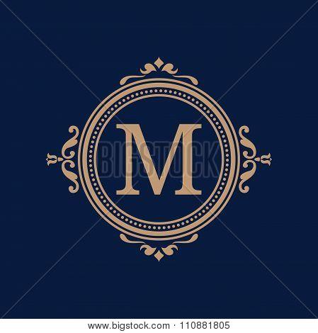 Vintage monogram template