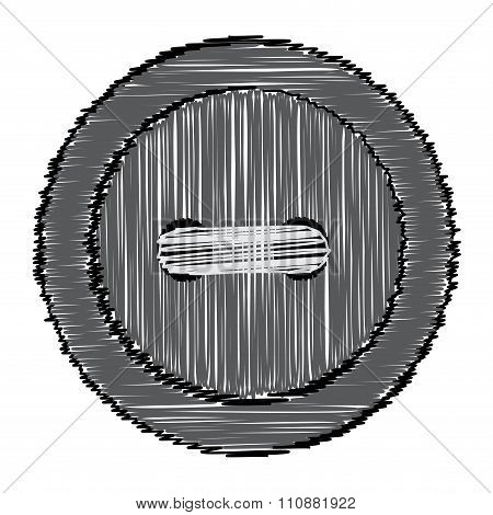 Sewing Button Of The Lines
