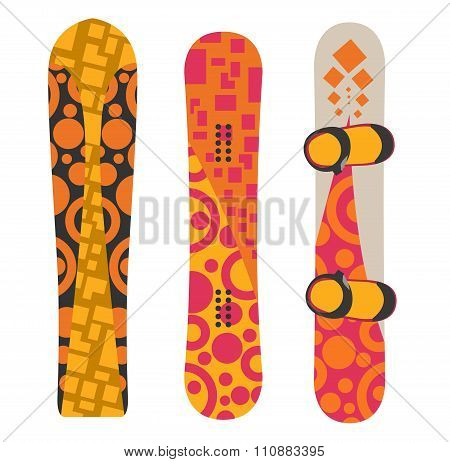 Snowboard sport boards elements