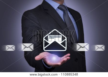 Mail Motion on Human Hand