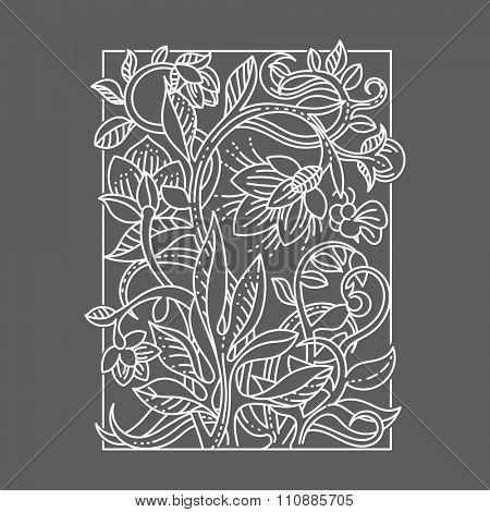 Vintage floral design elements. Universal graphical decoration.