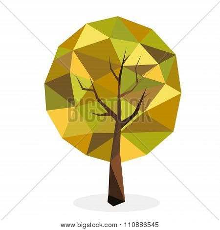 Stylized vector tree collection