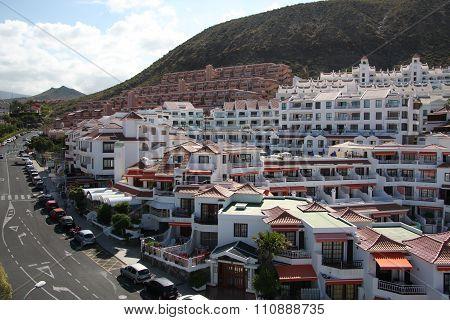 Apartment buidlings in Tenerife