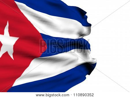 Image Of A Flag Of Cuba