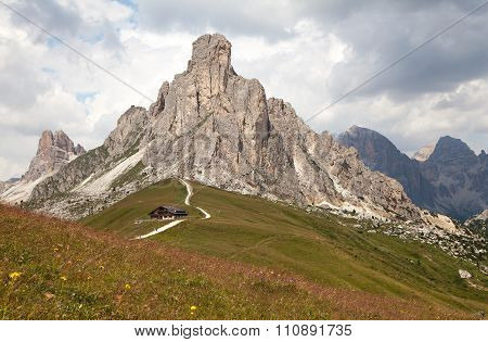 Passo Giau And Mount Ra Gusela