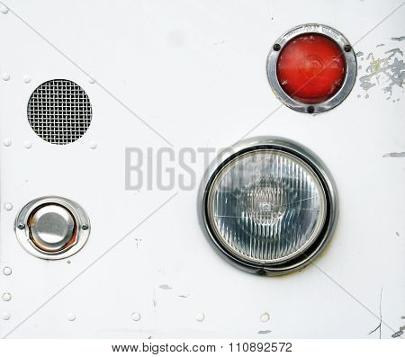 image from shapes and objects texture background series (headlights from a taco truck)