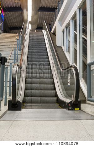 An Escalator In The Building