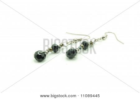 black swarovski earrings