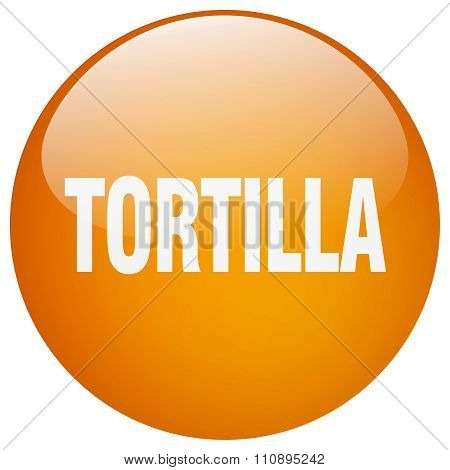 Tortilla Orange Round Gel Isolated Push Button