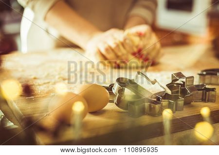 Baking Ingredients On Pastry Board