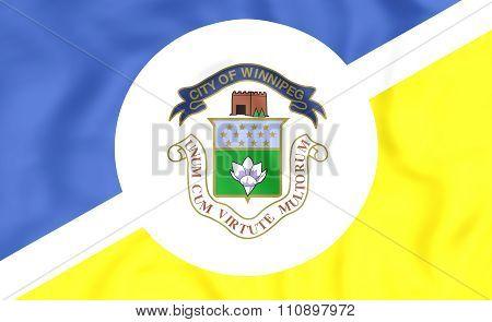 Flag Of Winnipeg, Canada.