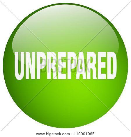 Unprepared Green Round Gel Isolated Push Button