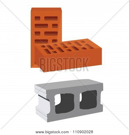 Brick And Cement Block