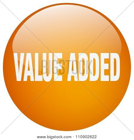 Value Added Orange Round Gel Isolated Push Button