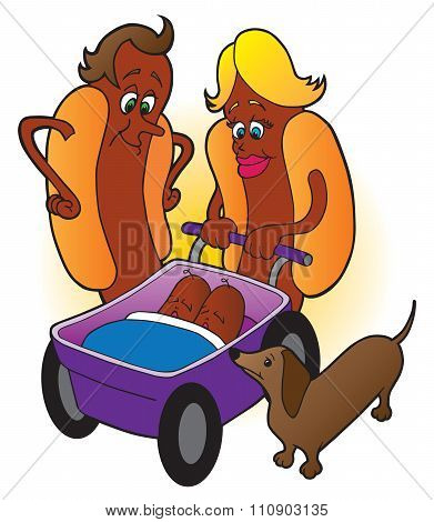 Hot Dog Family